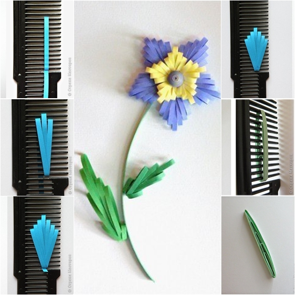DIY Quilled Flower With Comb