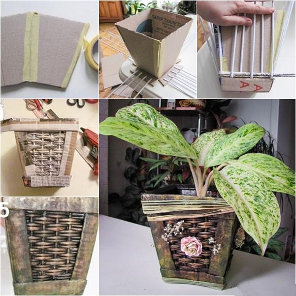 retro paper planter