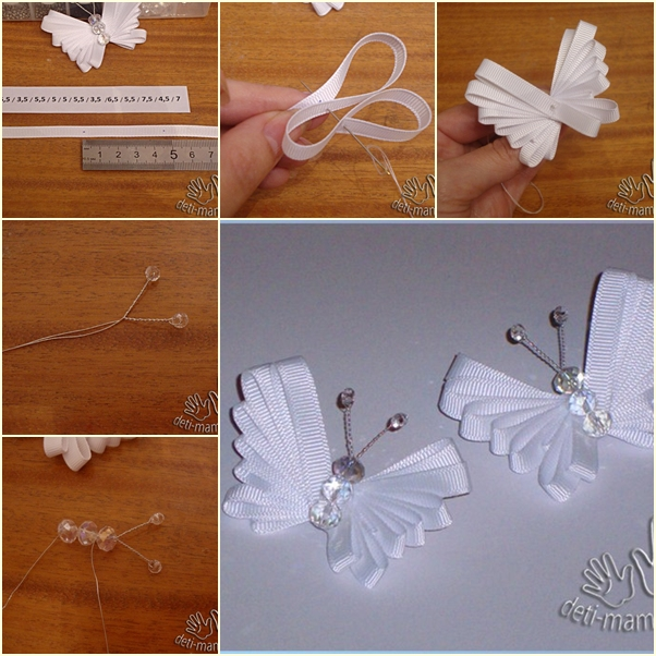 DIY ribbon butterfly