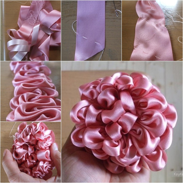 diy no sew ribbon flowers - photo #23