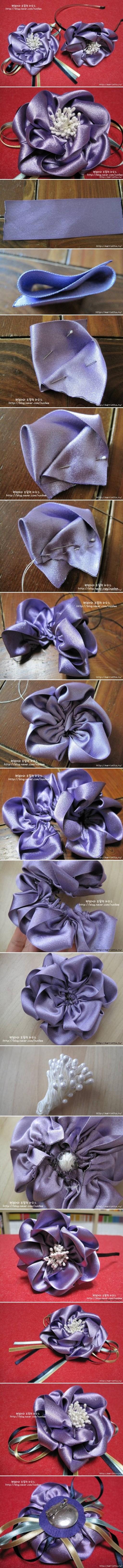 satin ribbon hairband tutorial