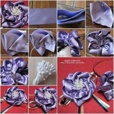 satin ribbon hairband
