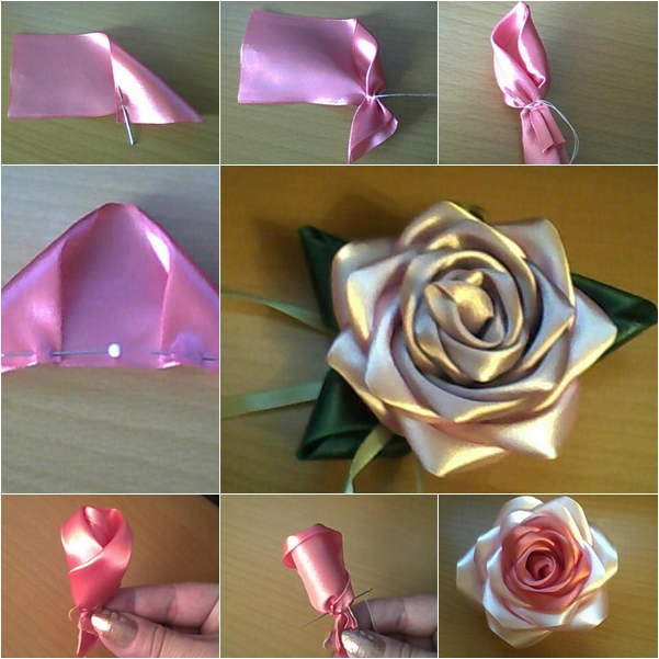 diy no sew ribbon flowers - photo #35