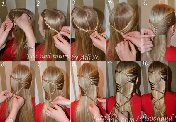 DIY Stylish Long Hair Hairstyle