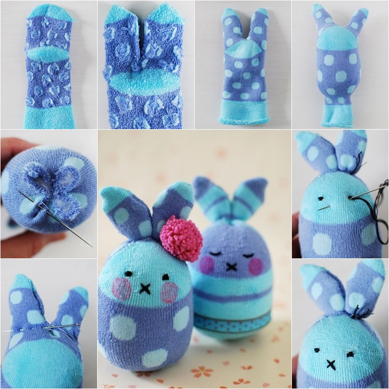 FABARTDIY - DIY Easter Sock Egg Bunny