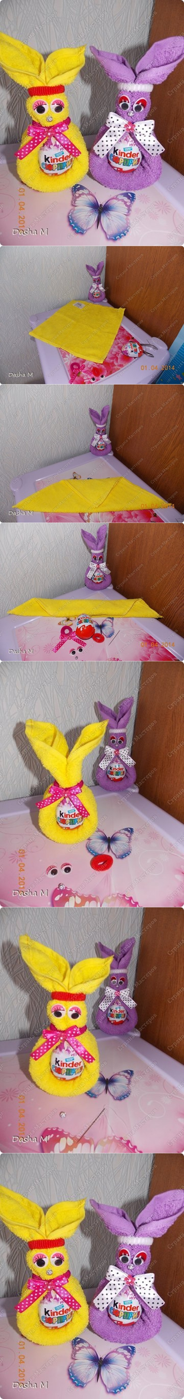 DIY Towel Bunny with Easter Egg in Last Minute