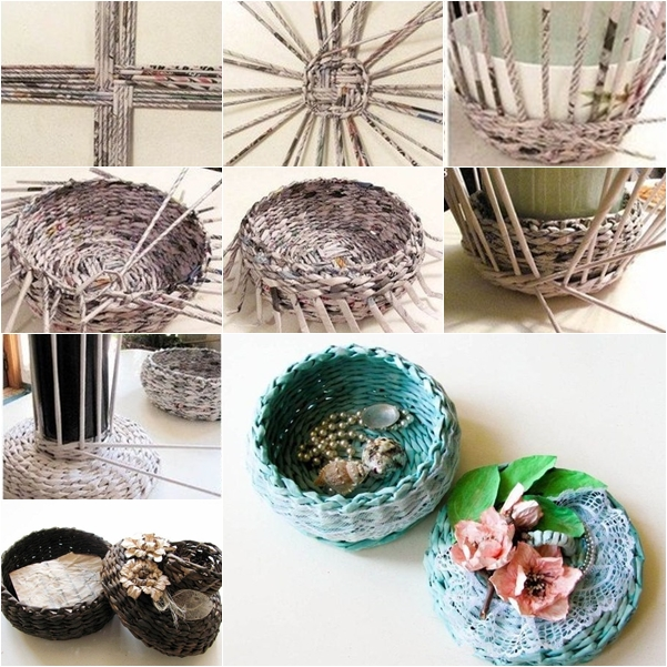 weaved basket f