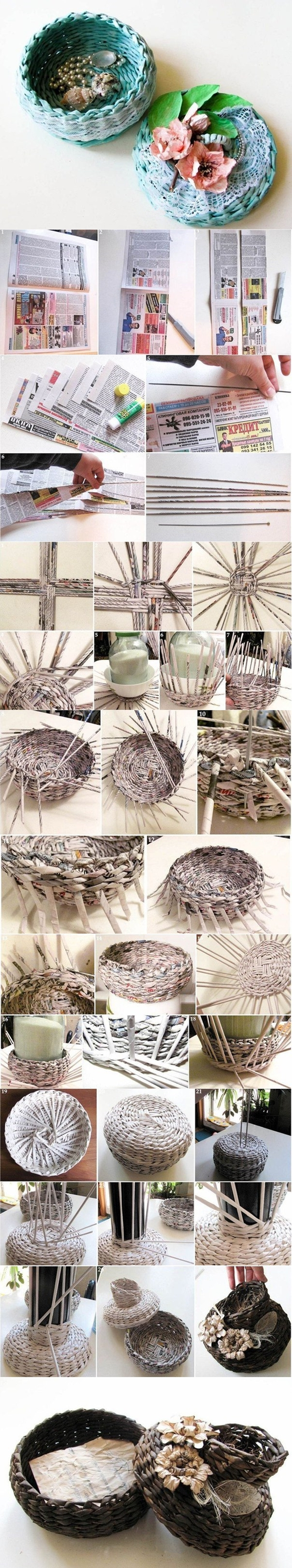 Weaved Basket Tutorial Woven Paper Craft