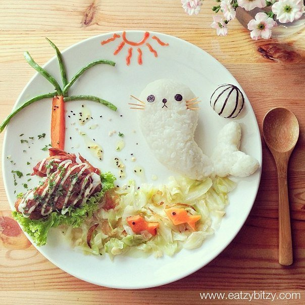 10 Creative Food Art On Cartoon Display Diy Tutorials