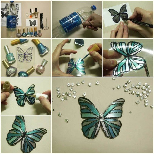 Tin Can aluminum can Butterflies tutorial