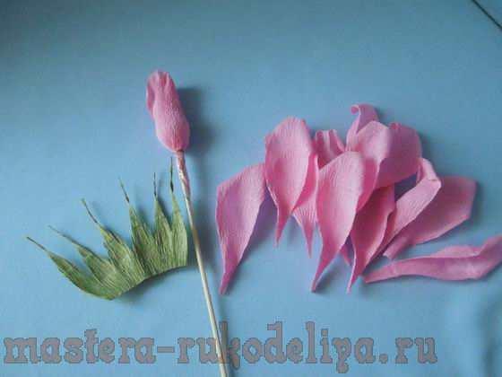 Сделать розу из гофрированной бумаги пошагово 104