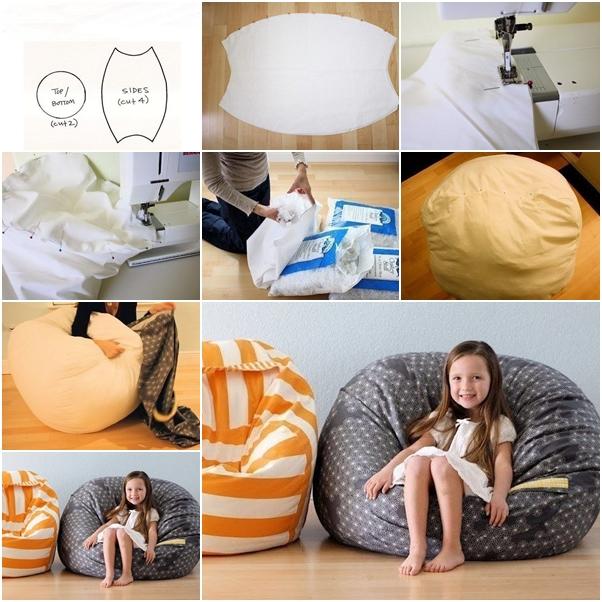 How To Diy Fabric Beanbag For Kids Fab Art Diy