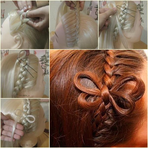 diy prom hairstyles : DIY Cute Braided Butterfly Hairstyle www.FabArtDIY.com