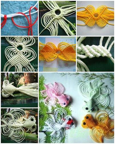 DIY Chinese Knot Lucky Golden Fish