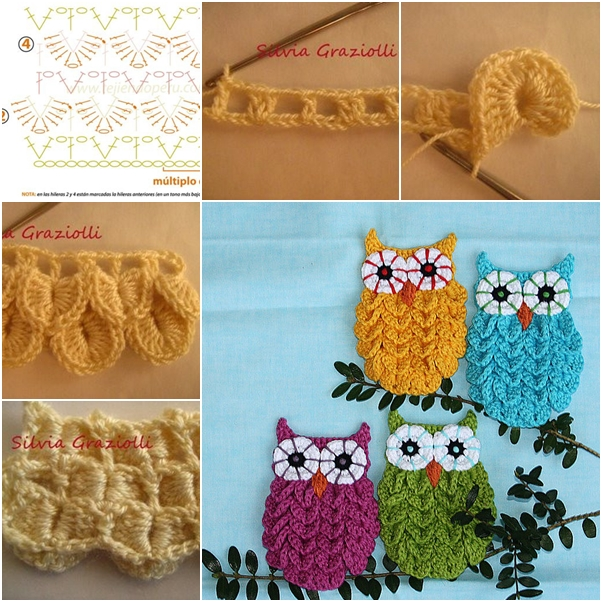 DIY Crochet Crocodile Stitch Owl Pattern