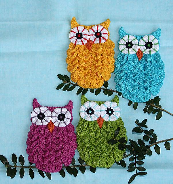 DIY Crochet Crocodile Stitch Owl Pattern