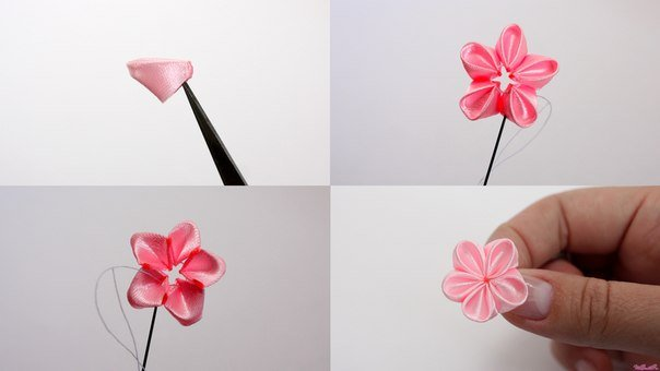 How To Make Japanese Ribbon Cherry Blossom Diy Tutorials