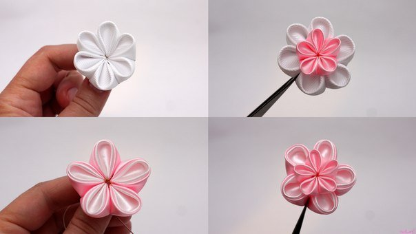 how to make japanese ribbon cherry blossom