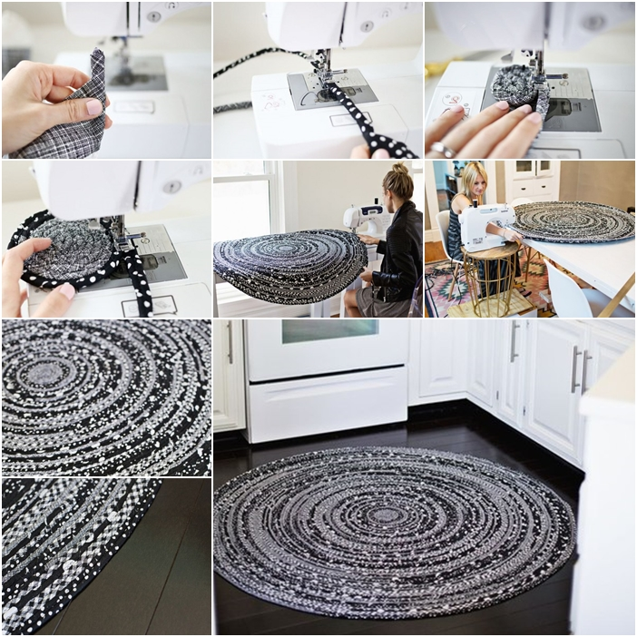 How To Make Modern Fabric Circle Rug With Rope Www