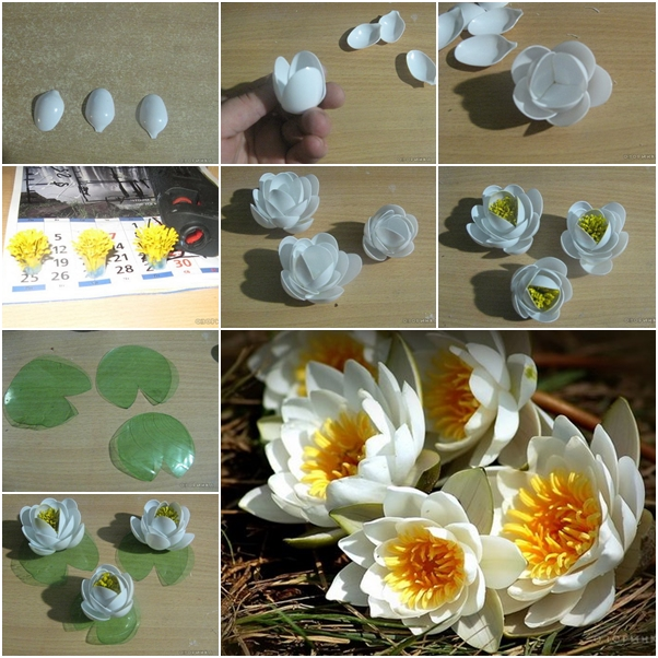Make beautiful lily from recycled plastic spoons and bottles for Diy crafts using recycled materials