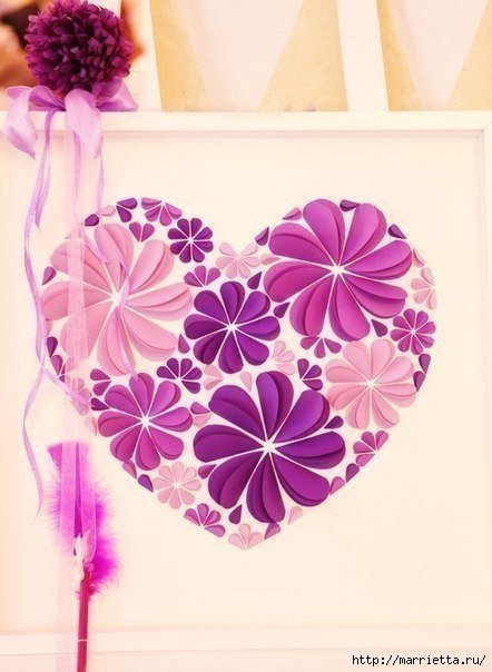How to make easy paper heart flower wall art easy paper heart flower wall art01g mightylinksfo