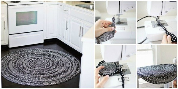 FabartDIY fabric circle rug with rope