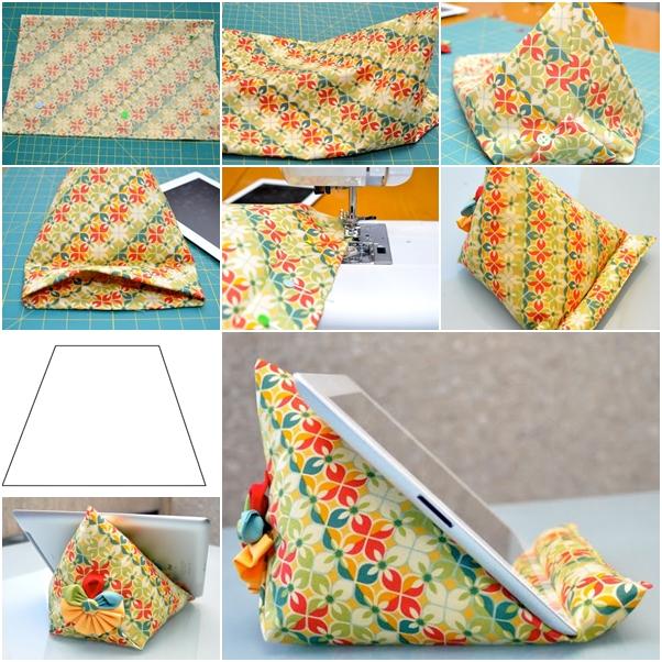 How to Make Fabric Pyramid IPAD Stand - DIY Tutorials