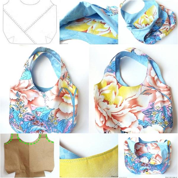 Fabric handbag for summer