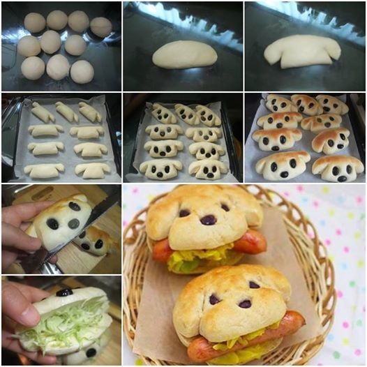 How to Bake Dog Shaped Hot Dog Sandwich