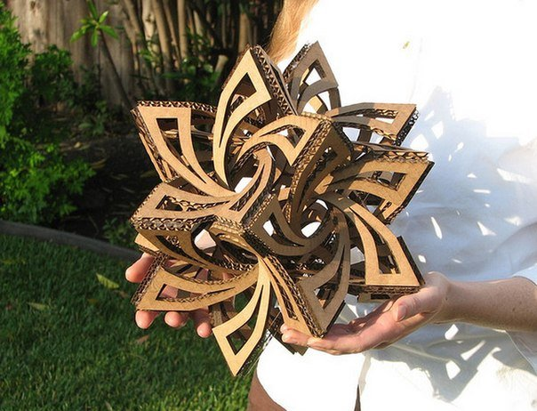 How to make 3d magnificent cardboard geometric sculpture for 3d art sculpture ideas