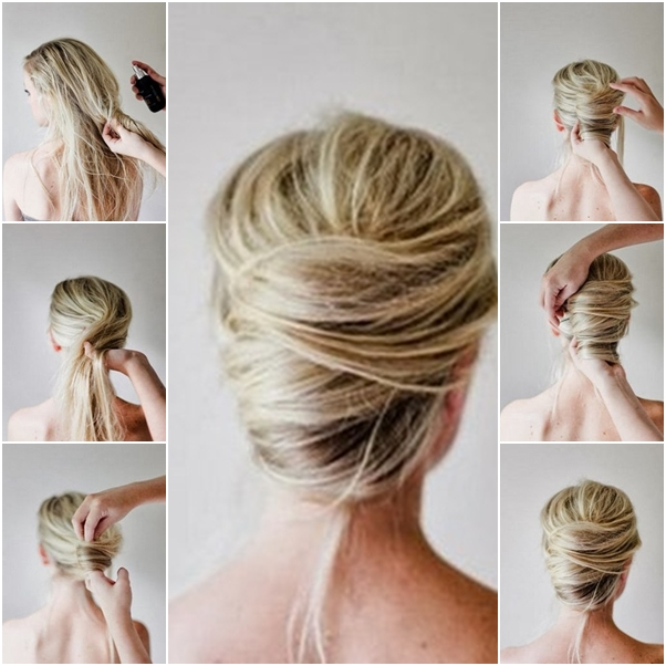 How to Make Messy French Twist Updo Hairstyle - Fab Art DIY