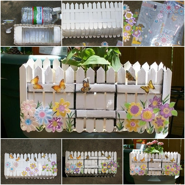 DIY IN-house planter from PET bottles and popsicle sticks tutorial