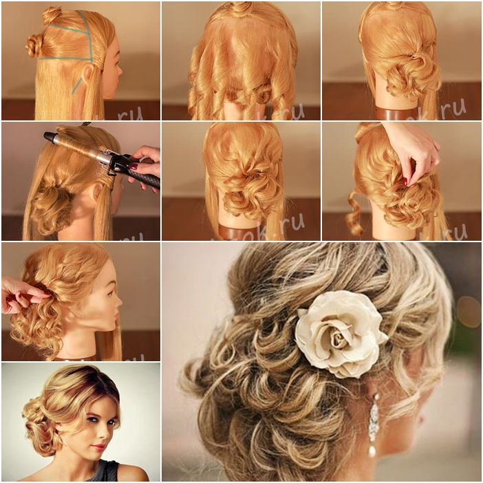 Wedding Hairstyles For Long Hair How To : How to Make Red-Carpet Looking Updo Wedding Hairstyle - Fab Art DIY