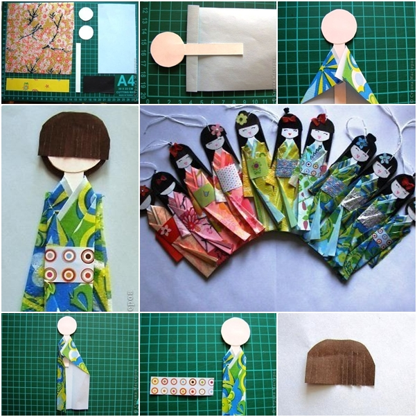How To Make Traditional Japanese Paper Doll Fab Art Diy