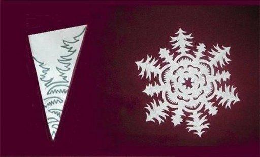 Paper Snowflake Flower Pattern (Free Template)