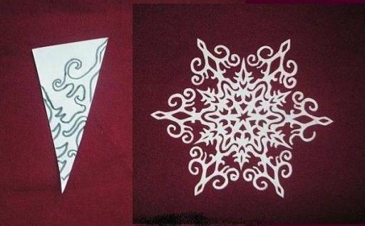 Как сделать снежинку из бумаги своими руками пошаговое фото