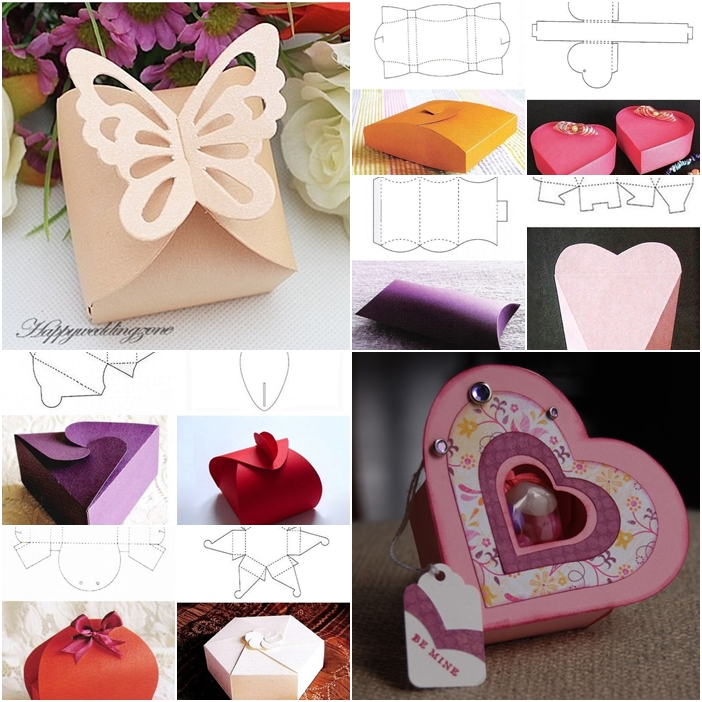 Fab Art DIY  Homemade Gift Boxes Templates