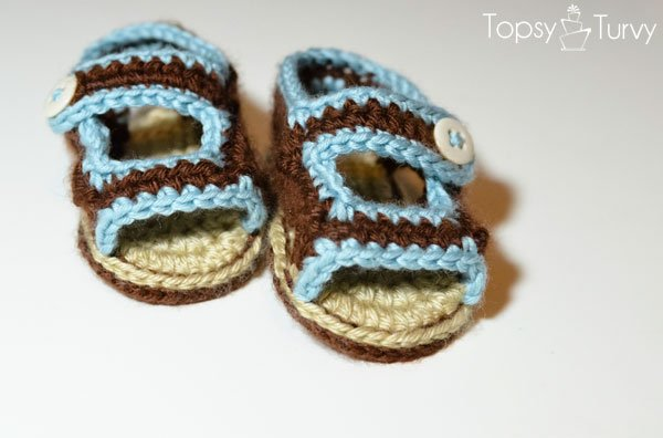 baby boy crochet sandals