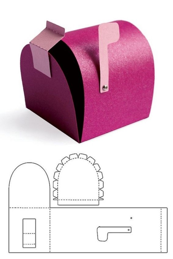 DIY Beautiful Candy Gift Box Free Template Download 12