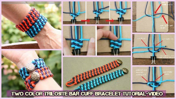 Diy Weave Two Color Trilobite Bar Cuff Bracelet Tutorial Video