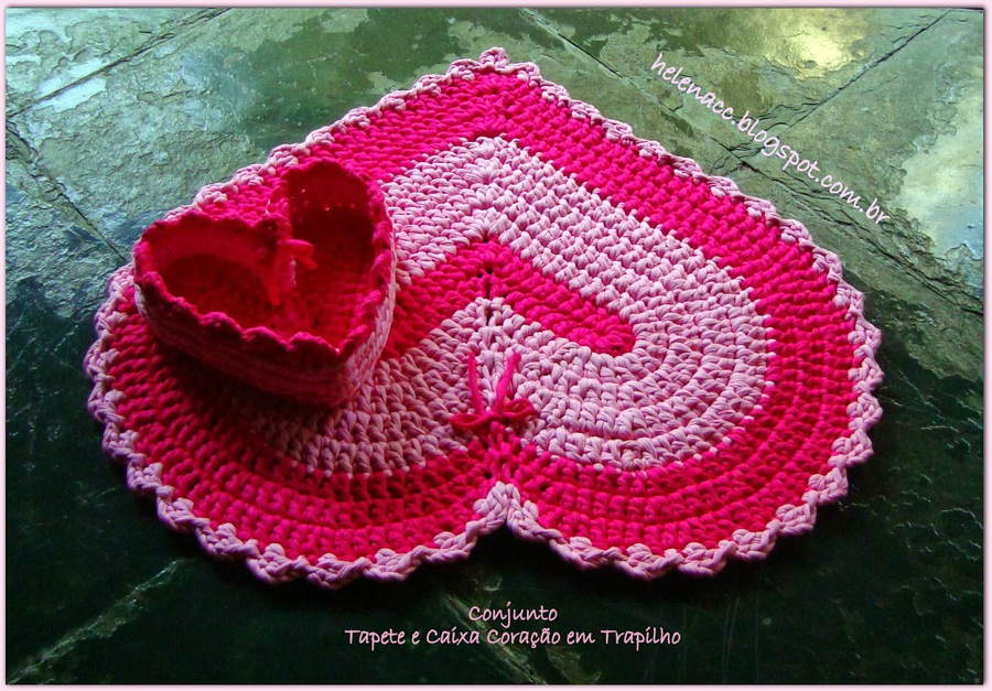 How To Crochet Heart Shaped Rug And Basket In One Fab Art Diy