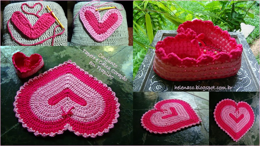 heart shaped basket and rug03