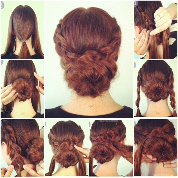 How To Make Hot Crossed Bun Updo Hairstyle