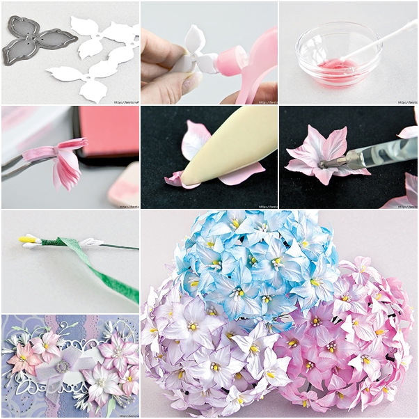 How to make ink colored paper flower fab art diy tutorials paper flower feature mightylinksfo
