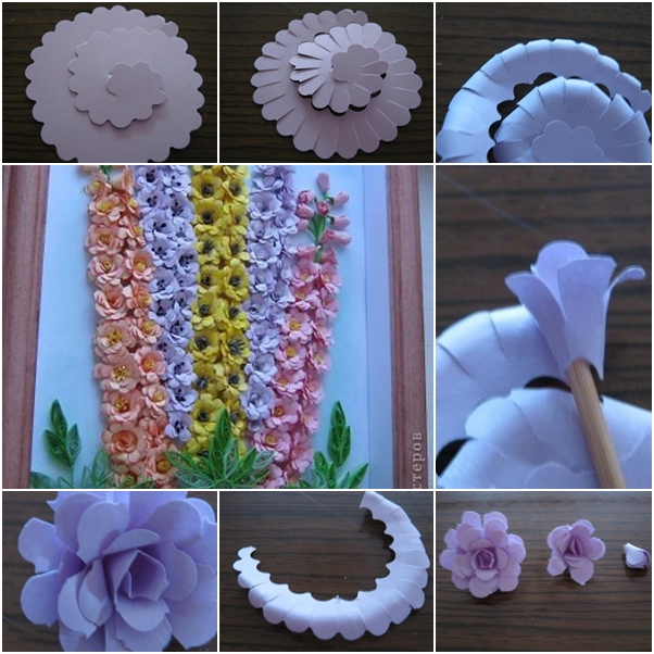 How To Make Wall Decor With Paper : How to make beautiful quilling paper flower wall art fab