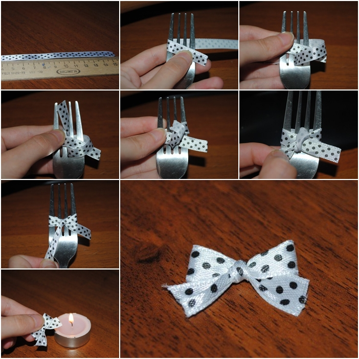 ribbon bow with fork