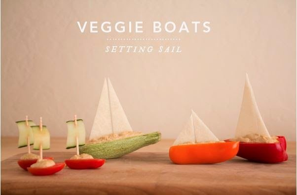 DIY Salad Vegetable Boat Appetizer Recipe