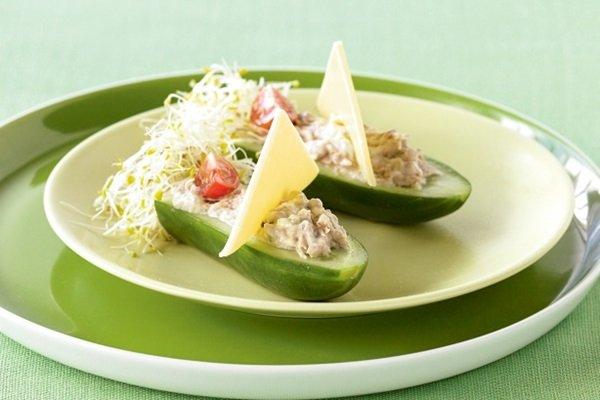 DIY Salad Vegetable Boat Appetizer Recipe 11