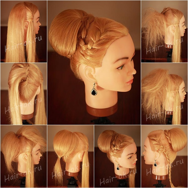 Incredible Side Braid With High Bun Braids Hairstyles For Women Draintrainus