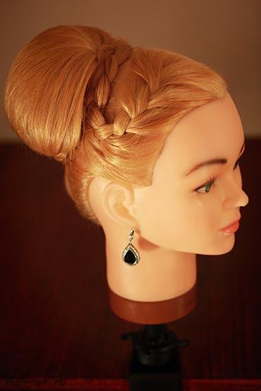 How to Make Elegant Side Braid High Bun Updo Hairstyle - Fab Art DIY